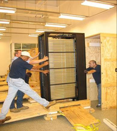 loading a crate
